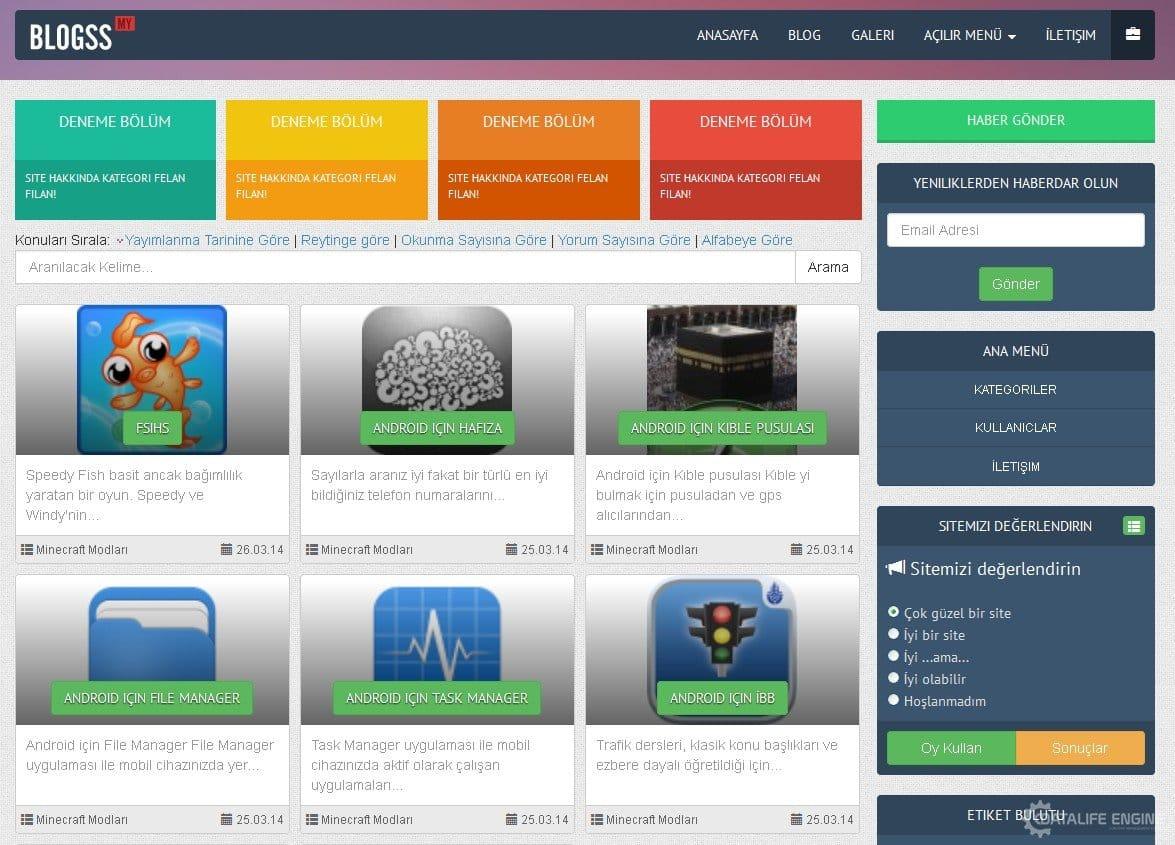 Blogss Template - DLE 10.2 » DataLife Engine ( DLE ) - İçerik ...