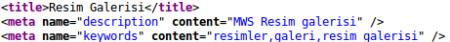 HTML kaynak kodu