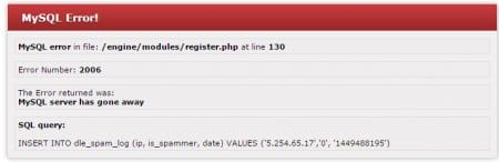 Kayıt olurken register.php hata veriyor