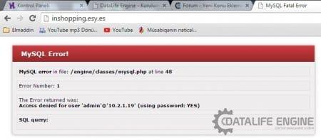 MySQL error in file at line 48