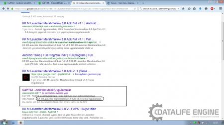 Google arama sonuçlarında sorun mu var