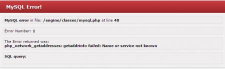 MySQL Error!