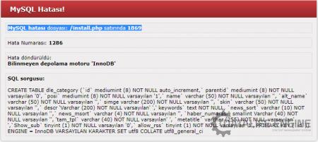 MySQL Hatası!