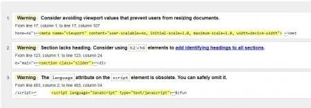 3 Adet W3C Hatası