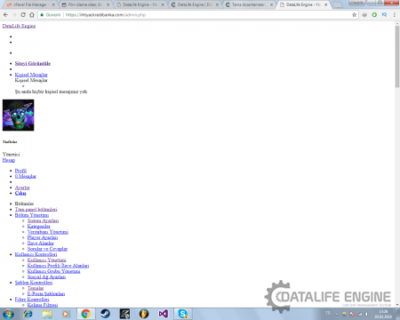 DataLife Admin Paneli Değişti