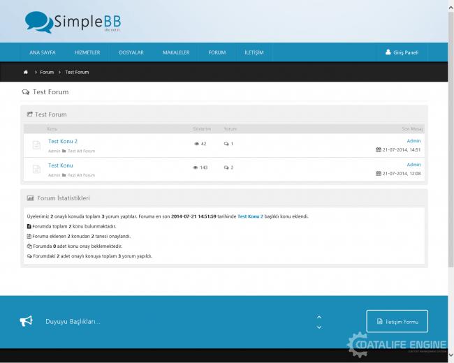 SimpleBB Default Theme Yayında !