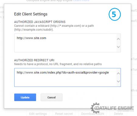 DLE 10.3 Google ile giriş (üyelik) aktif etme